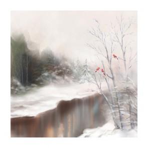 Πίνακας Ζωγραφικής Winter Birds - Decotek 191257