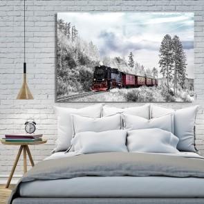 Πίνακας Ζωγραφικής Winter Train - Decotek 191262