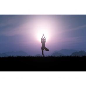 Πίνακας Ζωγραφικής Yoga Pose At Sunset - Decotek 191274