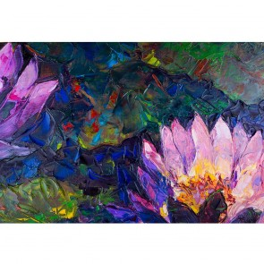 Πίνακας Ζωγραφικής Oil Painting Of Beautiful Lotus Flower - Decotek 191276