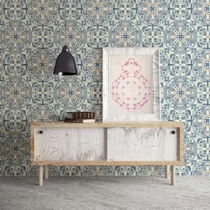 Ταπετσαρία Τοίχου Μωσαϊκό - Rasch Textil, Restored - Decotek 024046