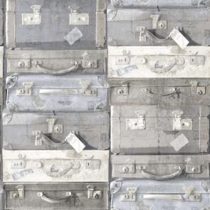 Ταπετσαρία Τοίχου Βαλίτσες - Rasch Textil, Vintage Rules - Decotek 138212