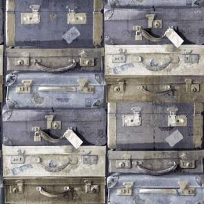 Ταπετσαρία Τοίχου Βαλίτσες - Rasch Textil, Vintage Rules - Decotek 138215