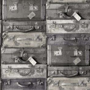 Ταπετσαρία Τοίχου Βαλίτσες - Rasch Textil, Vintage Rules - Decotek 138216
