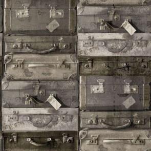 Ταπετσαρία Τοίχου Βαλίτσες - Rasch Textil, Vintage Rules - Decotek 138217