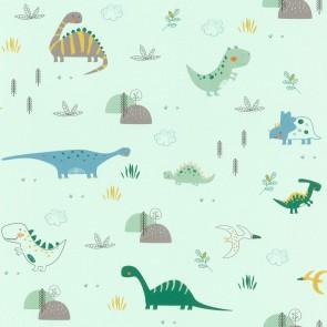 Ταπετσαρία Τοίχου Δεινόσαυροι - Rasch, Bambino 18 - Decotek 249330