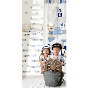 Παιδική Ταπετσαρία Τοίχου Σημαιάκια - Parato, Favola - Decotek 3206