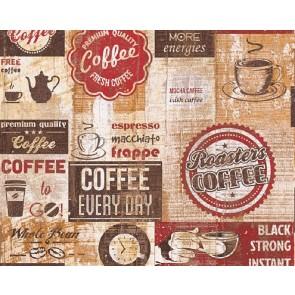 Ταπετσαρία Τοίχου Γράμματα, Καφές - AS Creation,Simply Decor - Decotek 334801