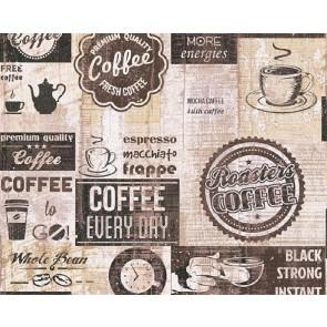 Ταπετσαρία Τοίχου Γράμματα, Καφές - AS Creation,Simply Decor - Decotek 334803