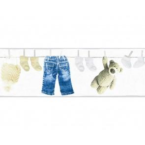 Παιδική Μπορντούρα Τοίχου Ρούχα και Αρκουδάκι  – AS Creation, Little Stars – Decotek 358461