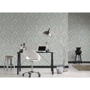 Ταπετσαρία Τοίχου Γεωμετρικά Σχήματα – Living Walls, Titanium 2 – Decotek 360002