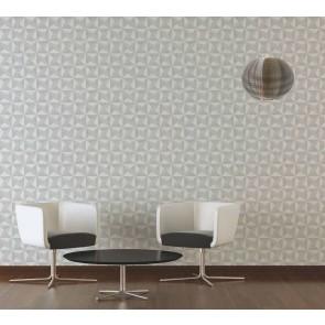 3D Ταπετσαρία Τοίχου Γεωμετρικά Σχήματα – Living Walls, Titanium 2 – Decotek 360013