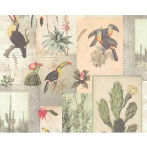 Ταπετσαρία Τοίχου Κάκτοι και Τουκάν - AS Creation, Authentic Walls 2 - Decotek 364791