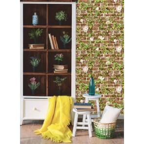 Ταπετσαρία Τοίχου Τούβλα και Φυτά - AS Creation, Authentic Walls 2 - Decotek 365721