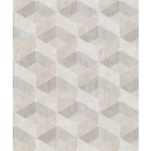 Μοντέρνα Ταπετσαρία Τοίχου 3D Γεωμετρικά Σχήματα – Living Walls, Titanium 3 – Decotek 382021