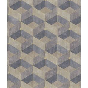 Μοντέρνα Ταπετσαρία Τοίχου 3D Γεωμετρικά Σχήματα – Living Walls, Titanium 3 – Decotek 382022
