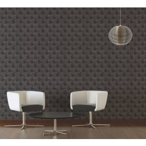 Μοντέρνα Ταπετσαρία Τοίχου 3D Γεωμετρικά Σχήματα – Living Walls, Titanium 3 – Decotek 382024
