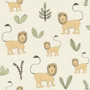 Ταπετσαρία Τοίχου Λιοντάρια - Rasch, Bambino 18 - Decotek 531701