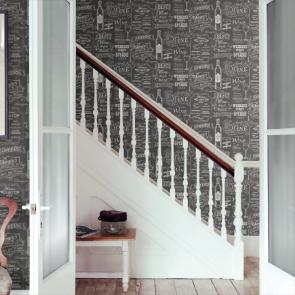 Ταπετσαρία Τοίχου Μαυροπίνακας, Κρασιά - Galerie, Kitchen Style 3 - Decotek CK36631