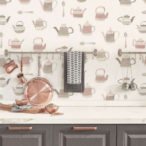 Ταπετσαρία Τοίχου Τσαγιέρες - Galerie, Kitchen Style 3 - Decotek CK36633