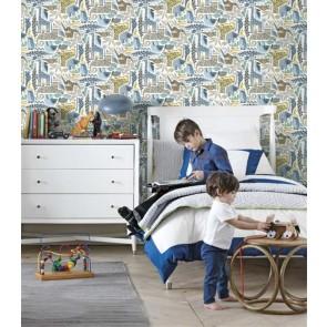 Παιδική Ταπετσαρία Τοίχου Ζωάκια - York Wallcoverings, Baby&Kids  - Decotek DW2300