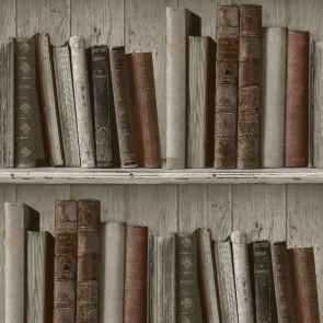 Ταπετσαρία Τοίχου Βιβλιοθήκη - Grandeco, Façade - Decotek fc3402