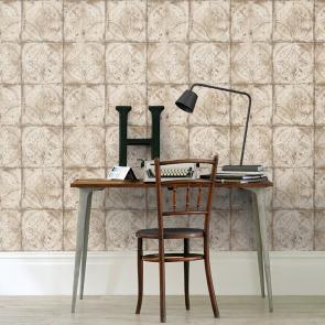 Ταπετσαρία Τοίχου Μεταλλικό Πλακάκι - Galerie, Grunge - Decotek G45374