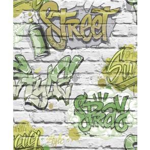 Εφηβική Ταπετσαρία Τοίχου Γκράφιτι - Ugepa, Freestyle - Decotek L17904