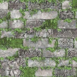 Ταπετσαρία Τοίχου Τούβλα, Φυτά - Ugepa, Horizons - Decotek L57404