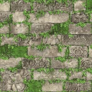 Ταπετσαρία Τοίχου Τούβλα, Φυτά - Ugepa, Horizons - Decotek L57408