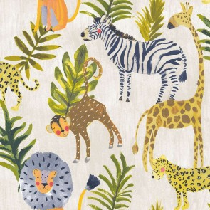 Ταπετσαρία Τοίχου Ζώα της ζούγκλας - Grandeco, Little Ones - Decotek lo2201