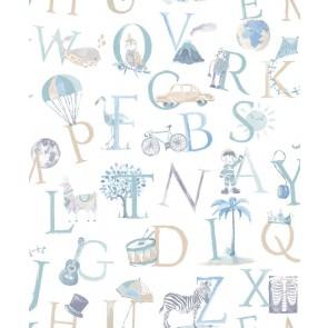 Ταπετσαρία Τοίχου Γράμματα - Grandeco, Little Ones - Decotek lo2301