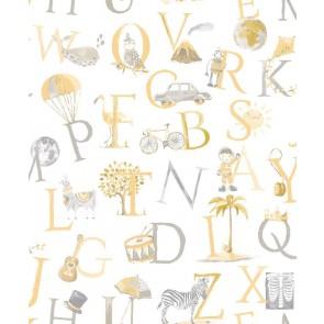 Ταπετσαρία Τοίχου Γράμματα - Grandeco, Little Ones - Decotek lo2302