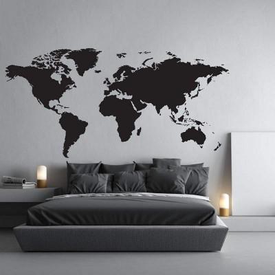 Αυτοκόλλητο Τοίχου Παγκόσμιος Χάρτης - Decotek 09438