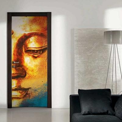 Αυτοκόλλητο Πόρτας Gold Face - Decotek 17743