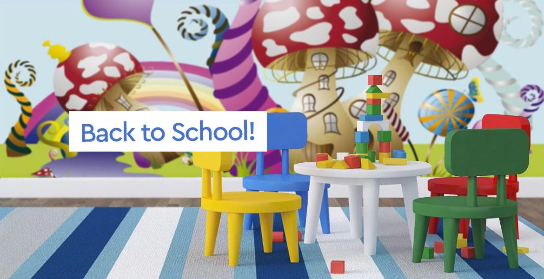 Πολύχρωμες Ταπετσαρίες για Χαρούμενους Μαθητές και στις Kαλύτερες Τιμές! - Back to School with Decotek