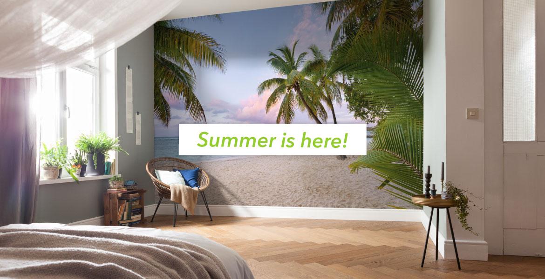 Πολύχρωμες Καλοκαιρινές Ταπετσαρίες στις Kαλύτερες Τιμές - Summer Time στη Decotek!